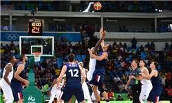 پیروزی 30 امتیاز اختلافی بسکتبال آمریکا