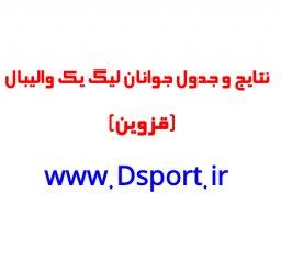 نتایج وجدول رده بندی رقابتهای جوانان لیگ دسته یک گروه دوم(قزوین)