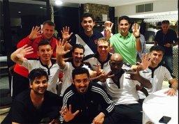 جشن سال نو در اردوی تیم ملی فوتبال ایران