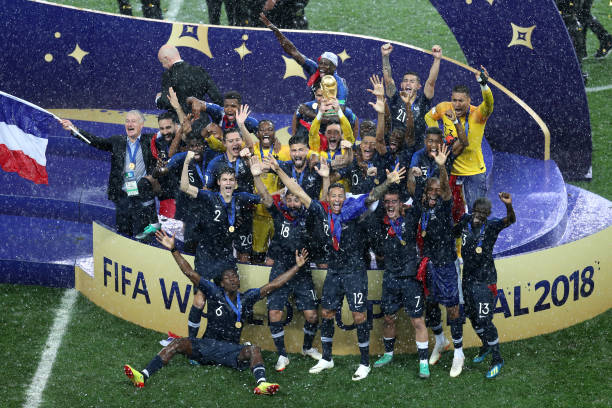 Image result for جشن قهرمانی فرانسه جام جهانی روسیه 2018